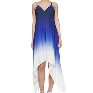 NWOT Milly Blue Ombre High-Low Sleeveless Dress